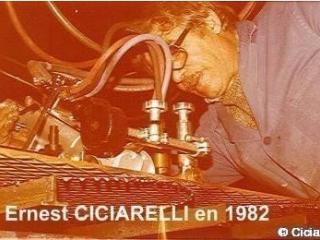 Ernest Ciciarelli en plein travail