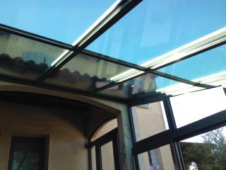 Véranda technal aluminium ciciarelli alu toiture en verre thermotop saint gobain couleur porte fenêtre baie coulissante volet somfy aluminier agréé technal gard sud caissargues nîmes 30 fabrication sur mesure showroom salle expo crédit d'impots rénovation neuf 1236