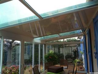 Véranda technal toiture thermotop et en verre ciciarelli alu caissargues nîmes gard