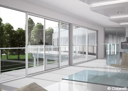 Coulissant technal gamme soleal vente fen tre et baie aluminium technal - Finestre a specchio ...