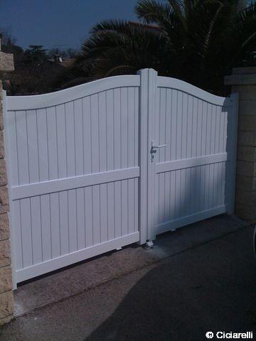 Portail et cl ture aluminium de marque technal ou sib acheter portail et cl ture for Portail aluminium ouvrant