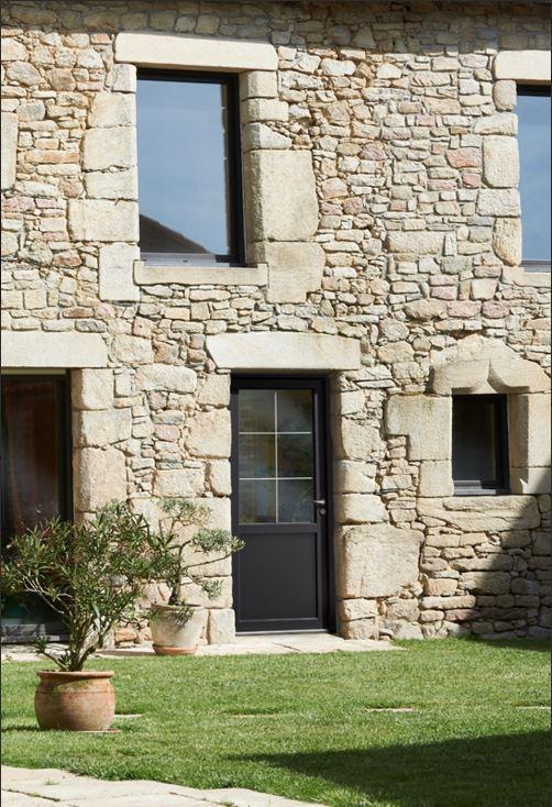 Veranda entree maison menuiserie fentre baie aluminium Porte d entree technal