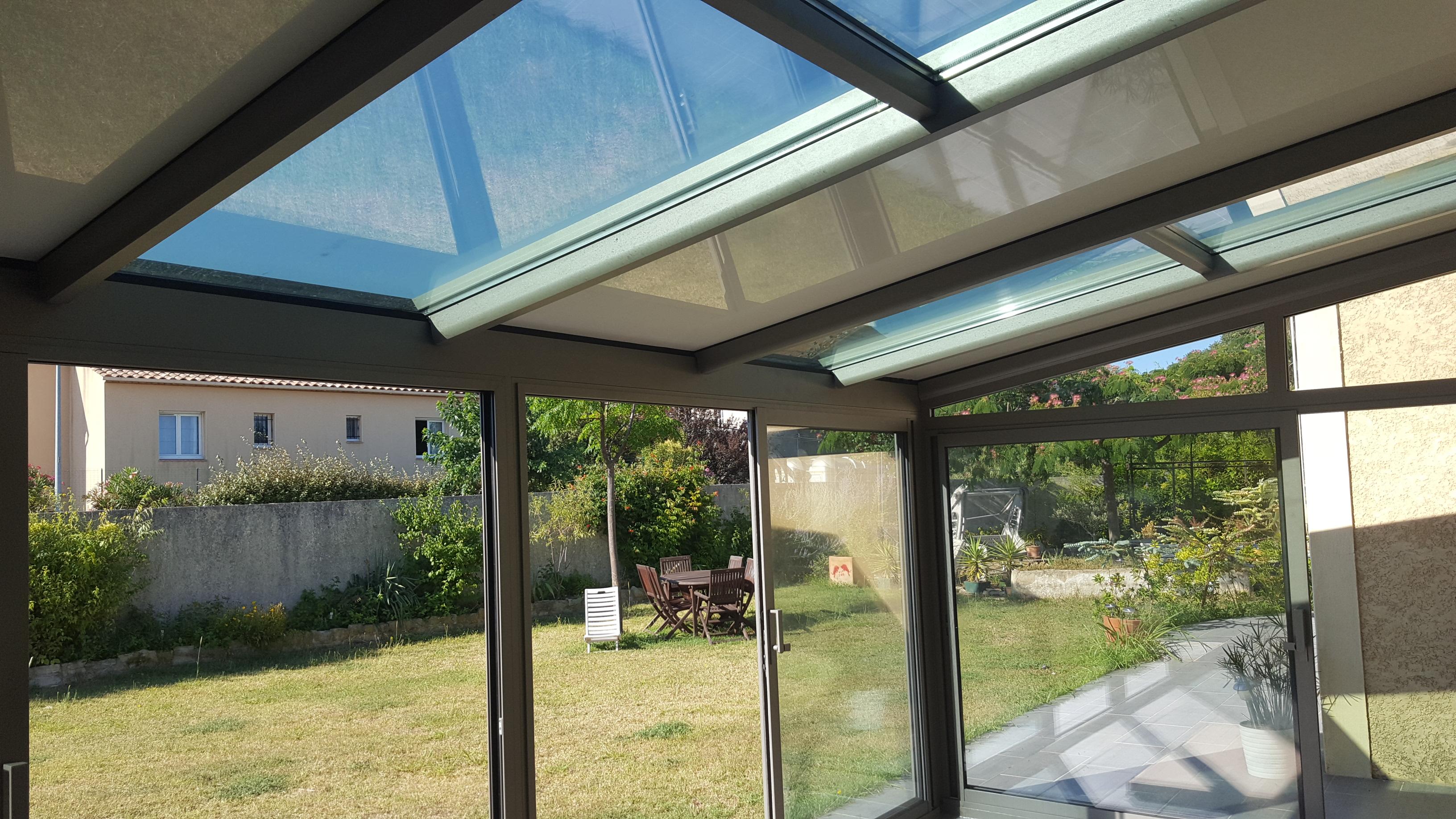 Véranda aluminium Technal à toiture mixte - Vente Véranda Technal