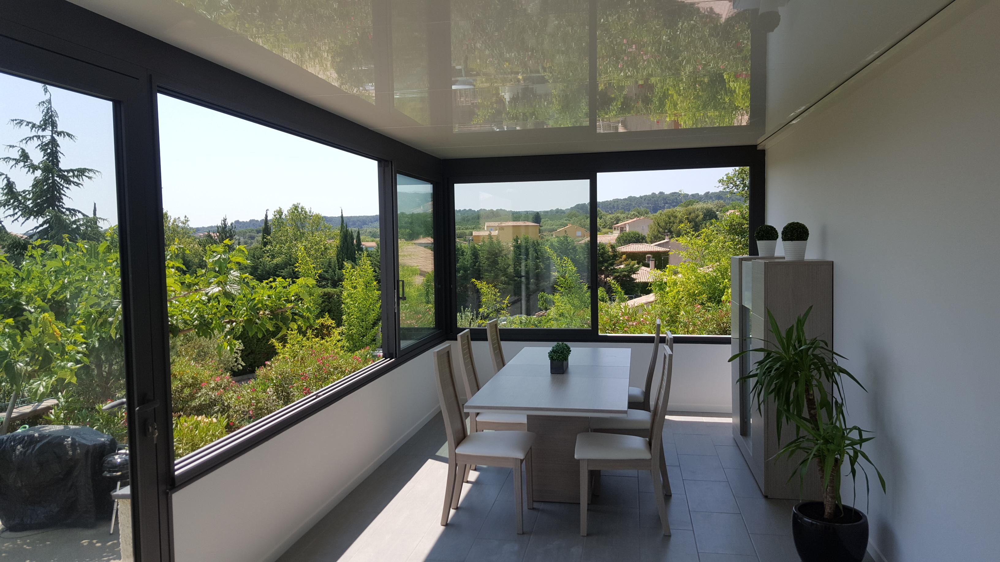Véranda Technal à toiture plate Nimes (30) Beaucaire Alès