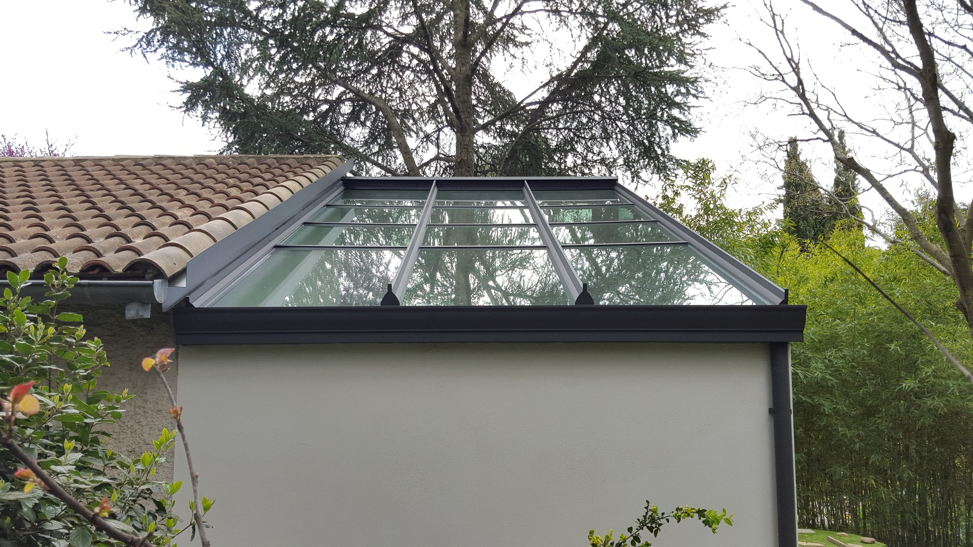 Véranda aluminium Technal toiture vitrée - Vente Véranda Technal
